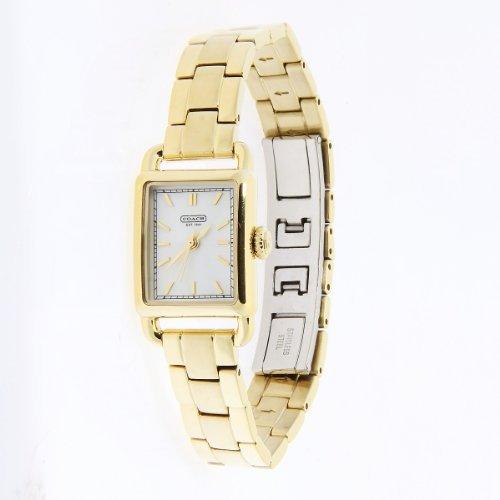 Coach women gold watch Hampton collection 14501319
