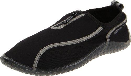 Speedo Little Kid/Big Kid Wave Walker Zip Water Shoe,Black,1 M Little Kid