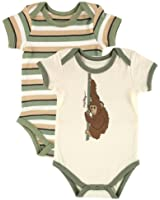 Touched by Nature Baby-Boys Organic Parrot Bodysuits (Pack of 2)
