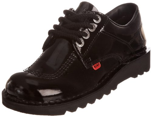 Kickers Women's Klpatentbts Patl Black Casual Lace UP 1-10688 4 UK
