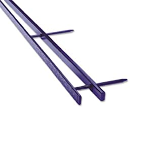 GBC VeloBind Easy-Editing Reclosable Binding Spines, 4 Pin Spines, Blue, 200 Sheet Capacity, 25 Spines (9741631)
