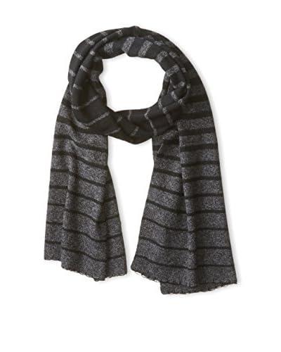 Quinn Women's Frona Stripe Scarf, Black/Coal