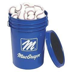 MacGregor 79P Baseballs with Storage Bucket (3 dozen) by MacGregor
