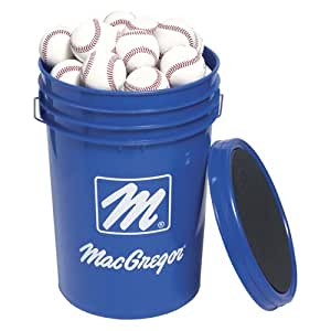 MacGregor Bucket with 5 Dozen 79PY Baseballs