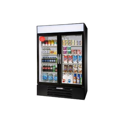 Beverage Air MMR49-1-W-LED White Marketmax Refrigerated 2 Glass Door Merchandiser with LED Lighting