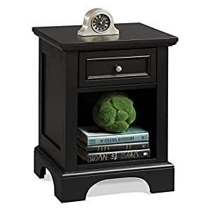 Bedford 1 Drawer Nightstand - Black
