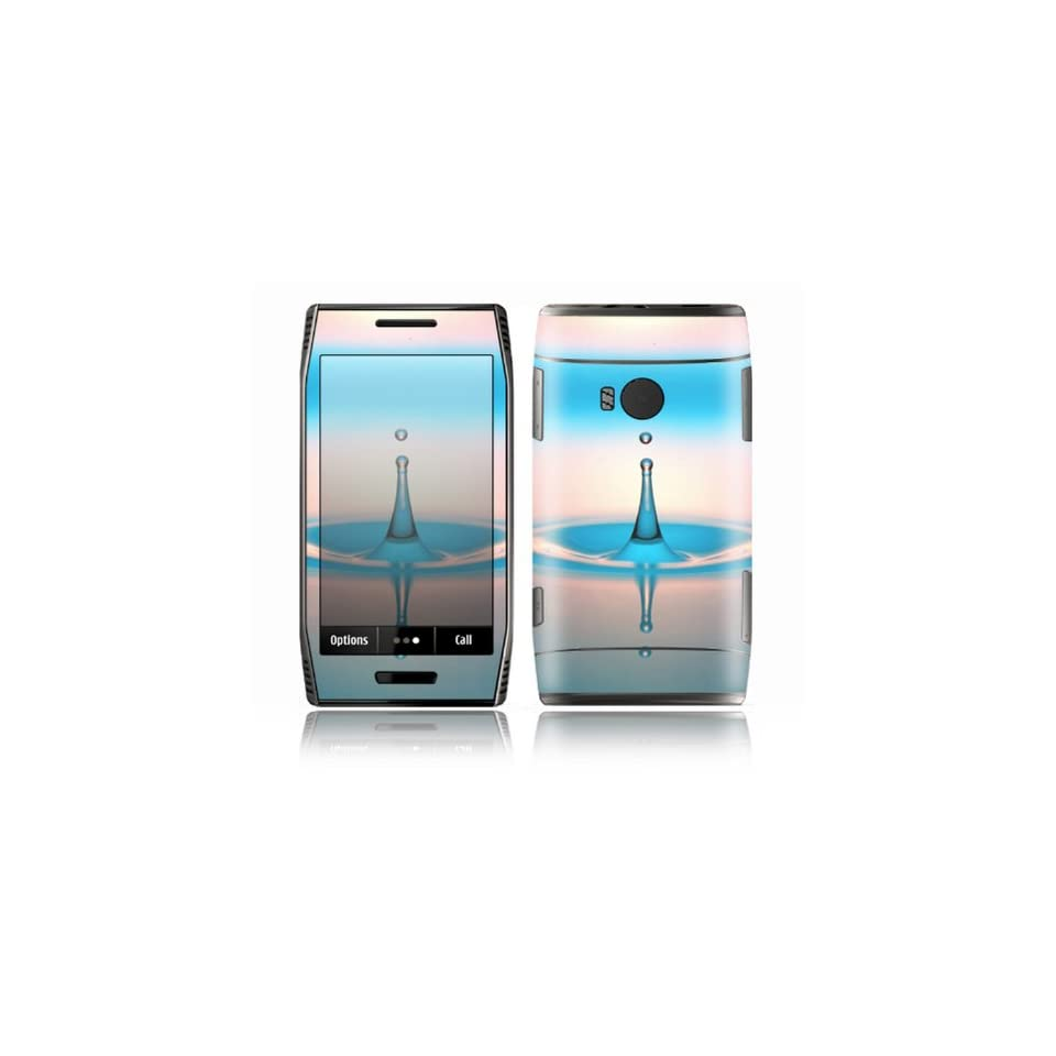Water Drop Design Decorative Skin Cover Decal Sticker for Nokia X7 Cell Phone