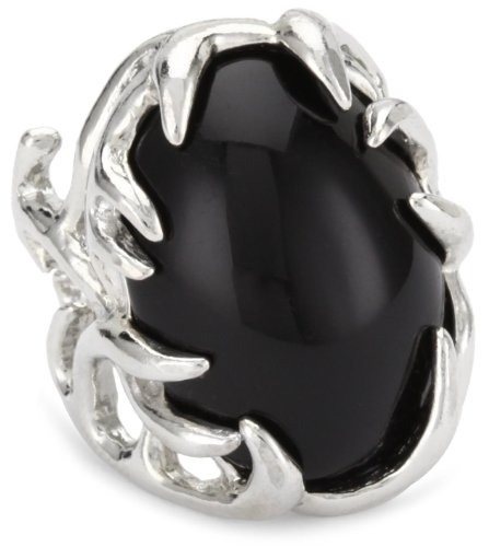 House of Harlow 1960 Oval Cabochon Antler Ring, Size 8