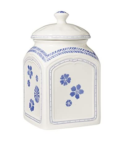 Villeroy & Boch Blueflowers Charm Jar with Lid, 9.75