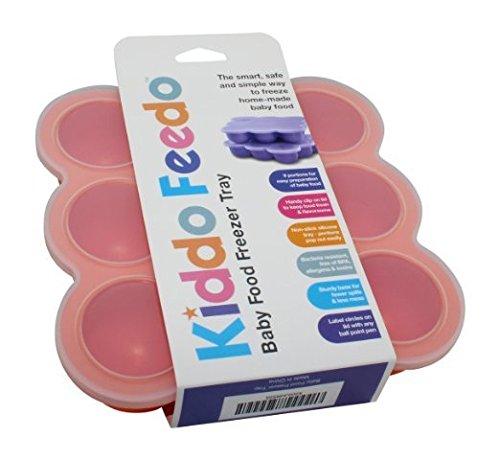 KIDDO-FEEDO-Das-original-Gefriertablett-zum-Einfrieren-und-Aufbewahren-von-BabynahrungBabykost-in-Portionen-und-als-Behlter-fr-Babybrei-mit-Silikondeckel-BPA-frei-Gratis-eBook-Lebenslange-Garantie-Ora