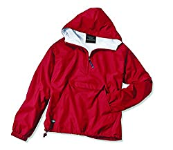 Charles River Apparel Women's Front Pocket Classic Pullover,Small,Red