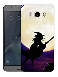 "Witch By The Moon Printed Designer Mobile Back Cover For ""Samsung Galaxy J7 2016 Edition"" (3D, Matte, Premium Quality Snap On Case)"