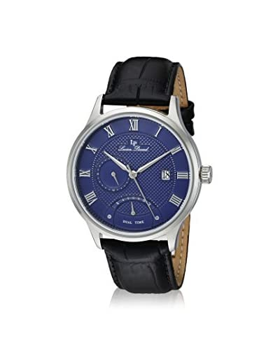 Lucien Piccard Men's LP-10339-03 Black/Dark Blue Genuine Leather Watch