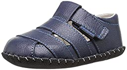 pediped Originals Ross Sandal (Infant), Navy, Small (6-12 Months E US Infant)