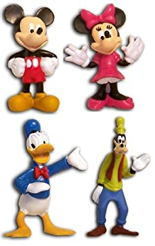SET DE 4 FIGURINES MICKEY DINGO DONALD MINNIE COLLECTION DISNEY AND FRIENDS
