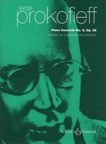 プロコフィエフ : ピアノ協奏曲 第3番 Op.26/ブージー & ホークス社2台ピアノ用編曲
