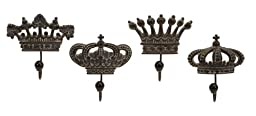 Royal Family Porcelain Wall Hooks - Set of 4