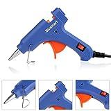 Blusmart Mini Hot Glue Gun with 25 Pieces Melt Glue Sticks, 20 Watts Blue Dual Temperature Glue Gun for DIY Craft Projects and Repair Kit