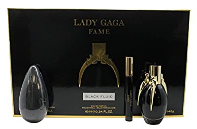Lady Gaga Fame Gift Set 1.7oz (50ml) EDP + 0.3oz (10ml) Roller Ball + 142g Soap