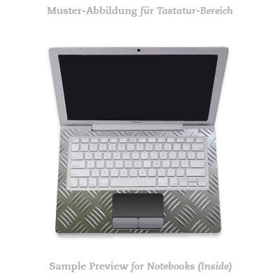 Design Skins f&#252;r TOSHIBA Satellite L670D-11T Tastatur - Riffelblech Design Folie