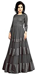 Kaizen Export Grey Soft Net Stylish Gown