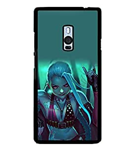 printtech Beautiful Anime Girl Back Case Cover for One Plus Two::One Plus 2::One+2