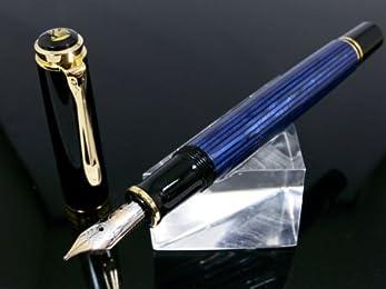 ペリカン PELIKAN SOUVERAN 万年筆 M400 ブルー縞 EF(極細字)