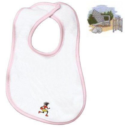 Embroidered Infant Terry Bib with the image of: adirondack chair