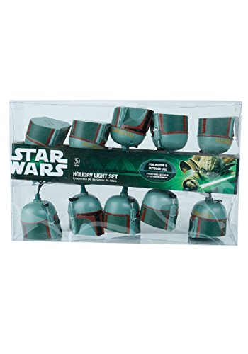 Kurt Adler 10-Light Boba Fett Helmet Light Set