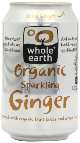 Whole Earth Organic Sparkling Ginger 330 ml (Pack of 12)