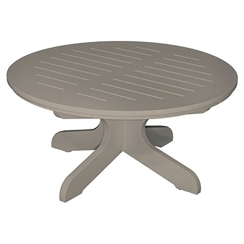 Poly Concepts Poly Concepts Outdoor 36 In. Round Cocktail Table, Pebble, Recycled Plastic