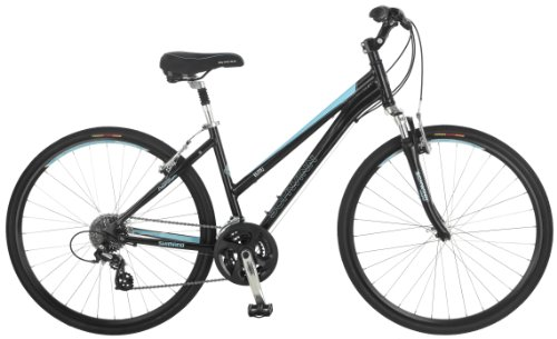 Lowest Price! Schwinn Women's Mica 2.0 Hybrid Bike, Black, 16-Inch/Small