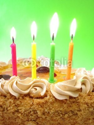 Wallmonkeys Peel and Stick Wall Decals - Celebratory Table (birthday Cake and Colored Candles) - 24
