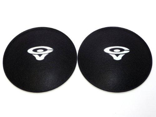 "2 Cerwin Vega 4.5"" Felt Logo Dust Caps"