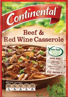 Continental Beef & Red Wine Casserole Recipe Mix 45g.