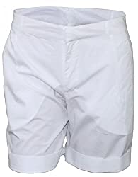 Attuendo Women's White Cotton Shorts (Large)