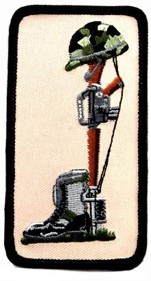 Fallen Soldier's Battle Cross Embroidered Military