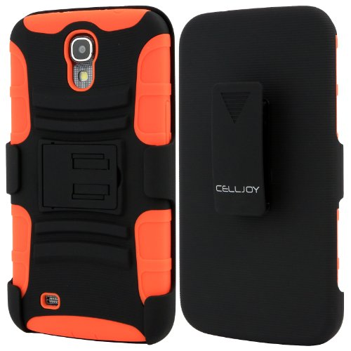 Celljoy Samsung Galaxy Mega 6.3 Case Protective [Future Armor] Ultra Fit Dual Protection Cover With Belt Clip Holster For Galaxy Mega 6.3 [Retail Packaged] (Neon Orange)