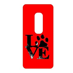 Vibhar printed case back cover for Moto X Play DogHandLove