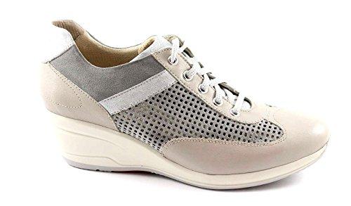 LION LIONELLE 20761 grigio piuma scarpe donna sportive antistatiche zeppa 37