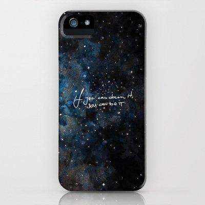 Society6/ソサエティシックス iphone5/5Sケース 星空 メッセージ You_can_do_it
