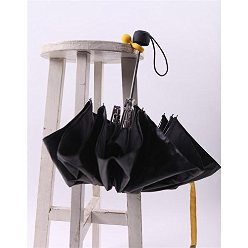 Cindy&Will 3Pcs Plastic Mini Handy Light Yellow Umbrella/Parasol/Sunshade Holders/Stands/Racks/Keepers/Supports/Hangers/Hooks