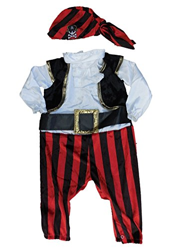 [Boo Infant Boys & Girls Captain Stinker Pirate Costume] (Babies R Us Toddler Halloween Costumes)