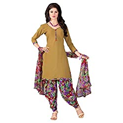 Aagaman Fashions Polyester Unstitched Salwar Suit (YTSSTMISK9012_Green)