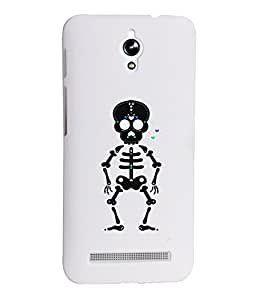 KolorEdge Printed Back Cover For Asus Zenfone C ZC451CG - White (1282-Ke15187ZenCWhite3D)