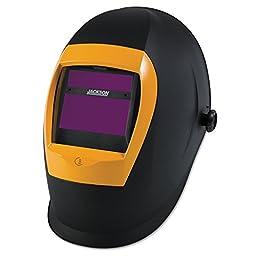 Jackson Safety BH3 Auto Darkening Welding Helmet with Balder Technology (37191), WH70, Black/Orange