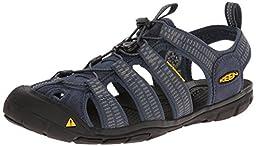 KEEN Men\'s Clearwater CNX Sandal, Midnight Navy/Gargoyle, 8.5 M US