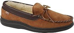 L.B. Evans Men\'s Yukon Slippers,Saddle Suede/Sherpa Lining,11 D