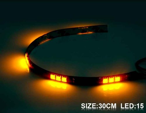 30 Cm 15 X 5050 Led Yellow Light Flexible Led Lighting Strip (Yellow)