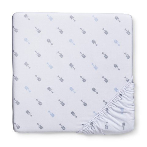 Circo® Woven Guitars Fitted Crib Sheet - 1